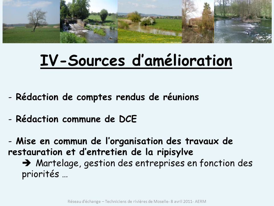 IV-Sources d'amélioration