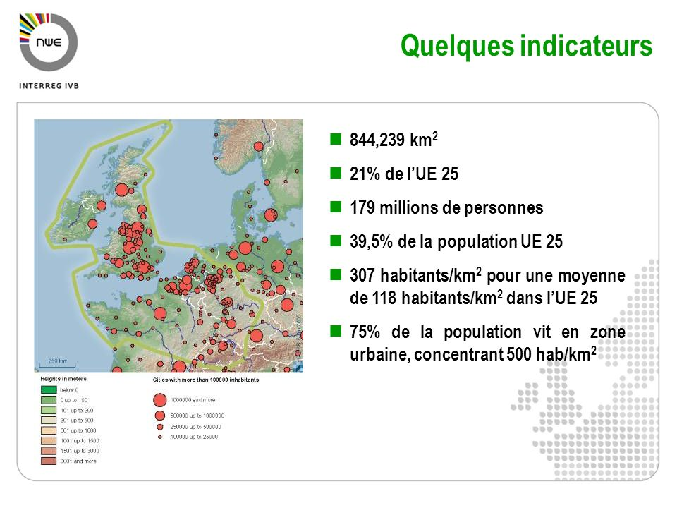 Quelques indicateurs 844,239 km2 21% de l'UE 25