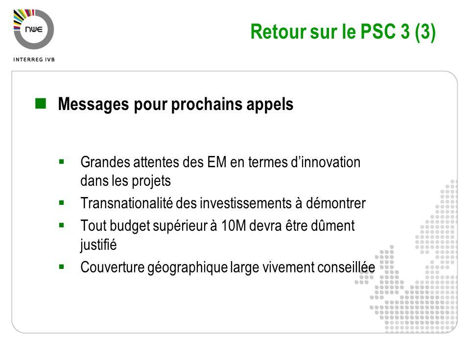 Retour sur le PSC 3 (3) Messages pour prochains appels