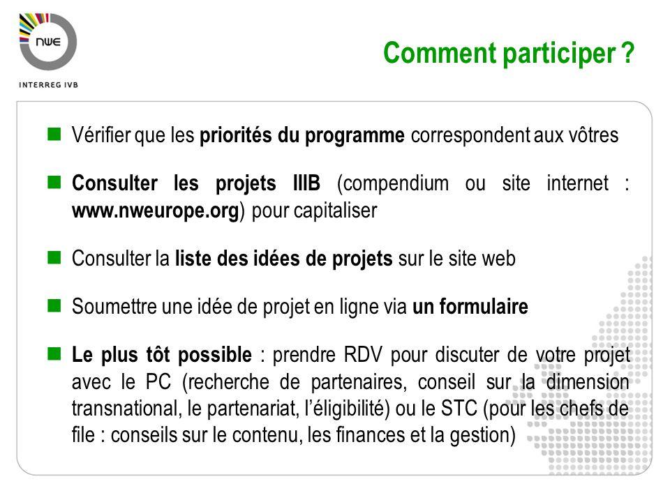 Comment participer Vérifier que les priorités du programme correspondent aux vôtres.