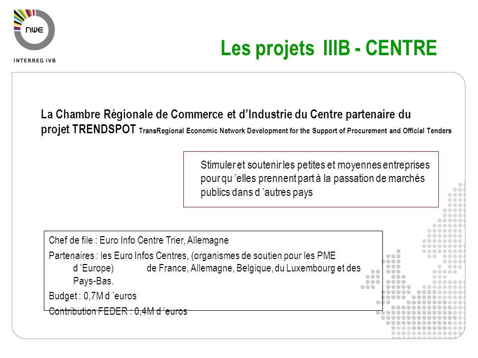 Les projets IIIB - CENTRE