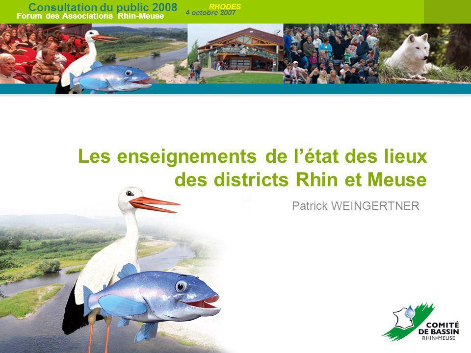 Les enseignements de l'état des lieux des districts Rhin et Meuse