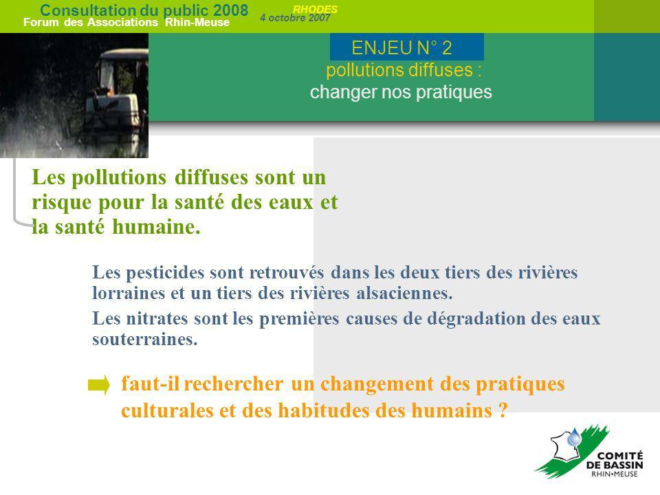 ENJEU N° 2 pollutions diffuses : changer nos pratiques