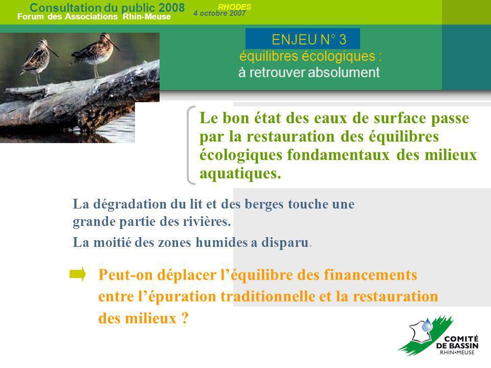 ENJEU N° 3 équilibres écologiques : à retrouver absolument