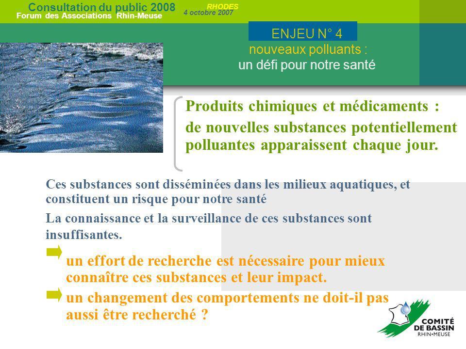 ENJEU N° 4 nouveaux polluants : un défi pour notre santé