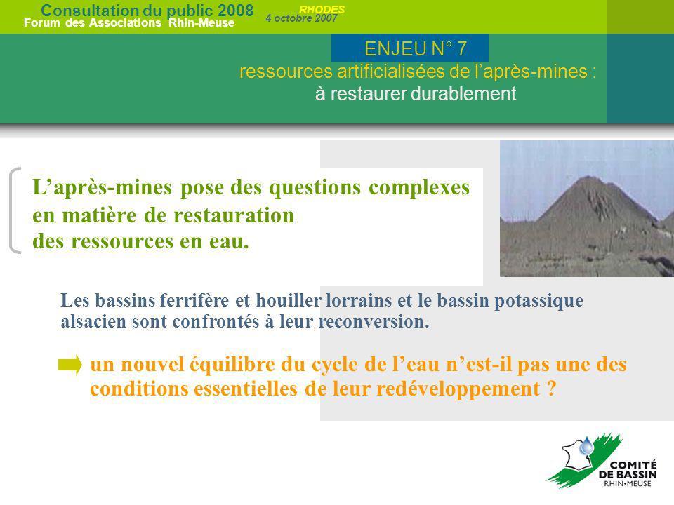 L'après-mines pose des questions complexes en matière de restauration