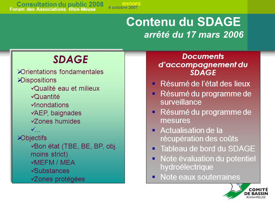 Documents d'accompagnement du SDAGE