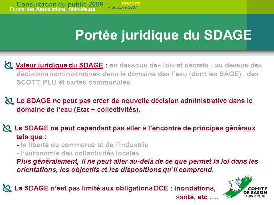 Portée juridique du SDAGE