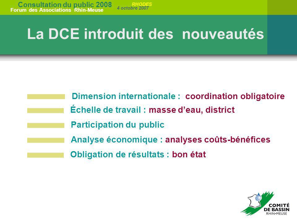La DCE introduit des nouveautés