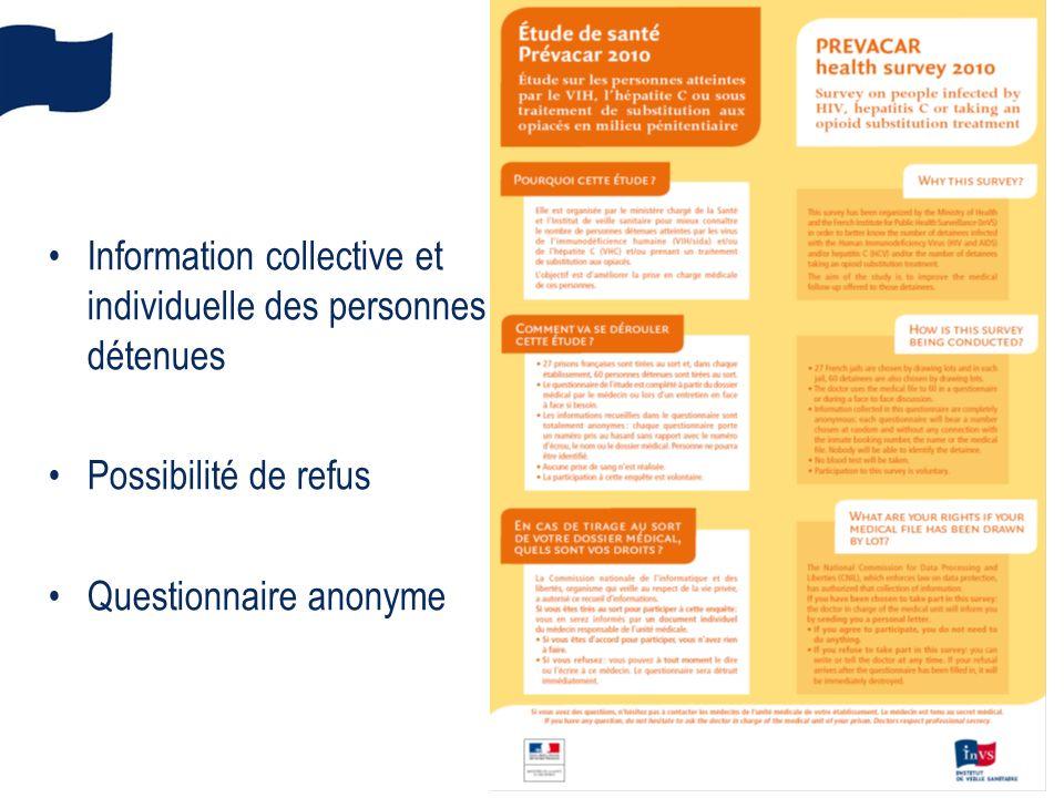 Information collective et individuelle des personnes détenues