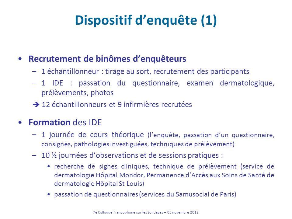 Dispositif d'enquête (1)