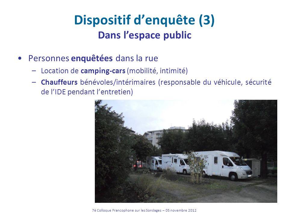 Dispositif d'enquête (3)