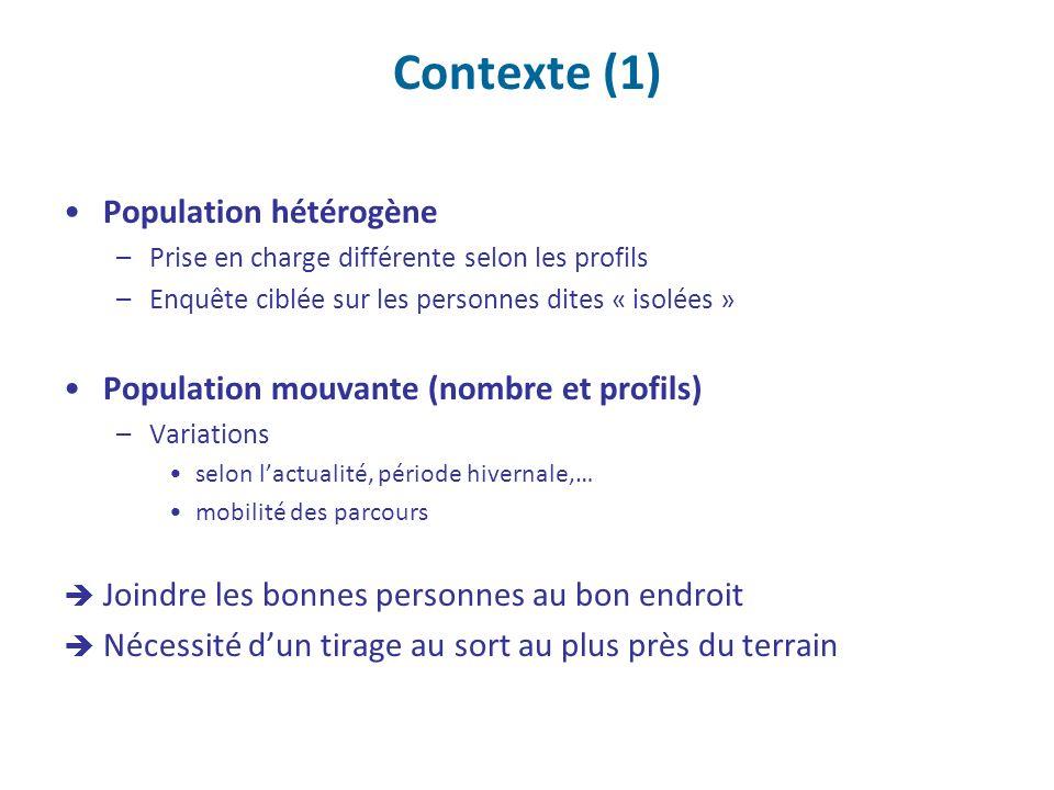 Contexte (1) Population hétérogène