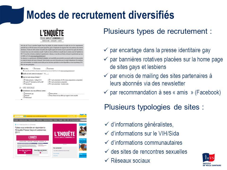 Modes de recrutement diversifiés