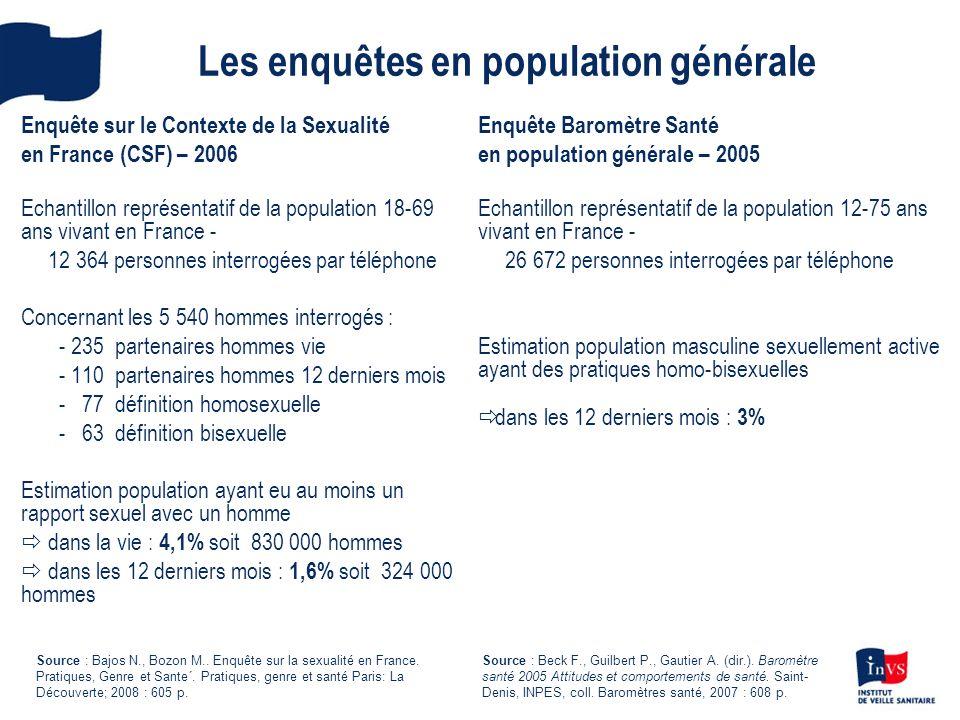 Les enquêtes en population générale