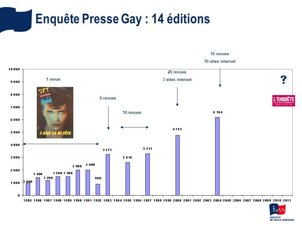 Enquête Presse Gay : 14 éditions
