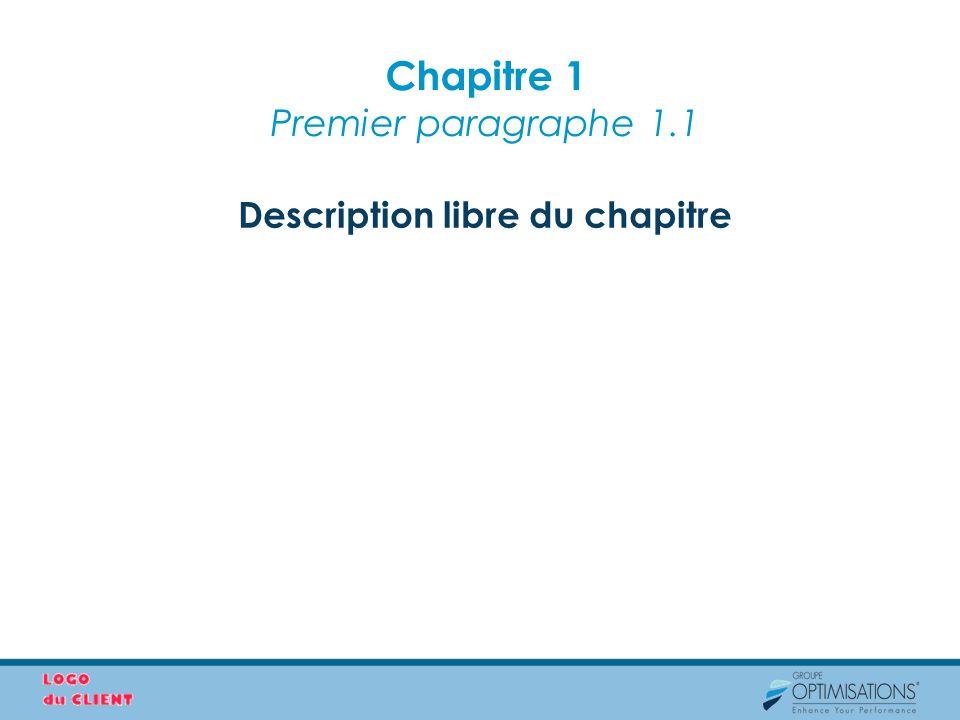 Chapitre 1 Premier paragraphe 1.1
