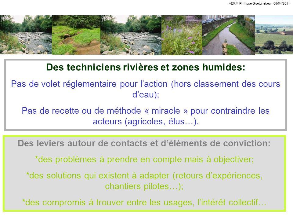 Des techniciens rivières et zones humides: