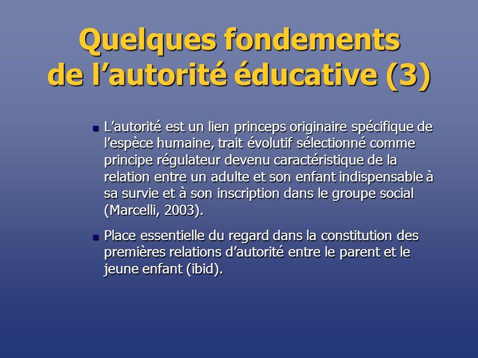 Quelques fondements de l'autorité éducative (3)