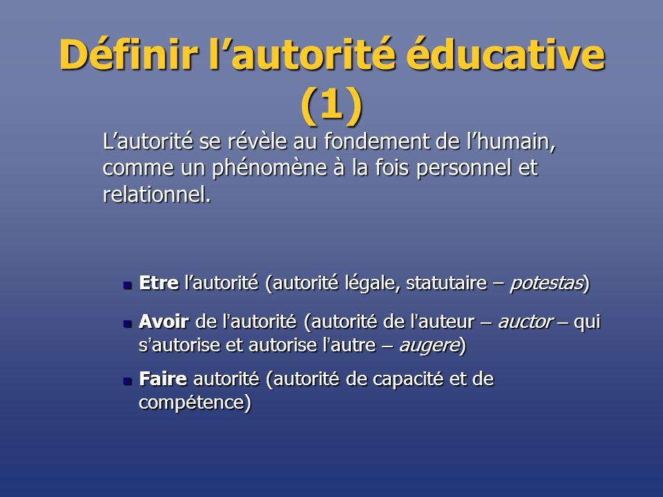 Définir l'autorité éducative (1)