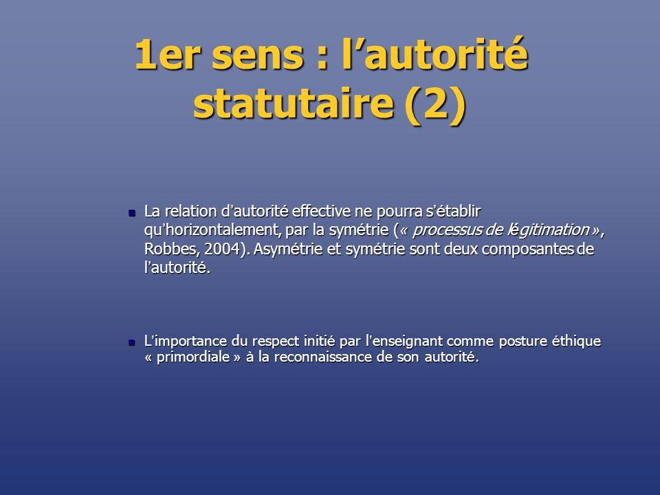 1er sens : l'autorité statutaire (2)