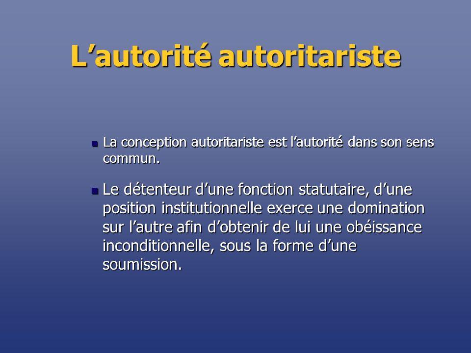 L'autorité autoritariste