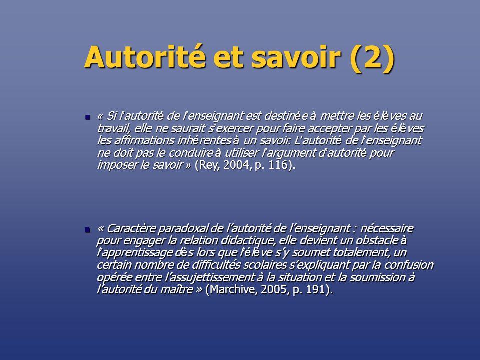 Autorité et savoir (2)