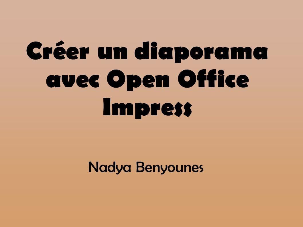 Créer un diaporama avec Open Office Impress