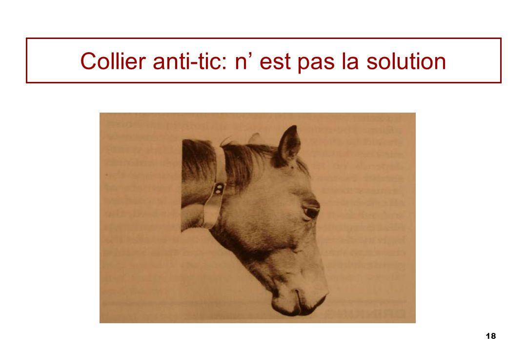 Collier anti-tic: n' est pas la solution