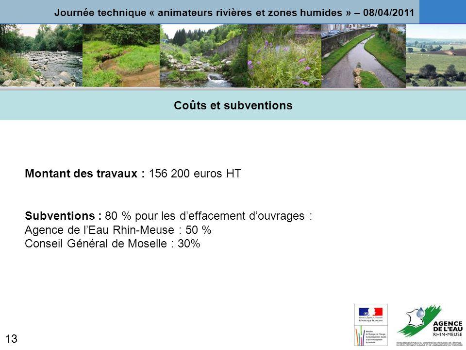 Montant des travaux : 156 200 euros HT