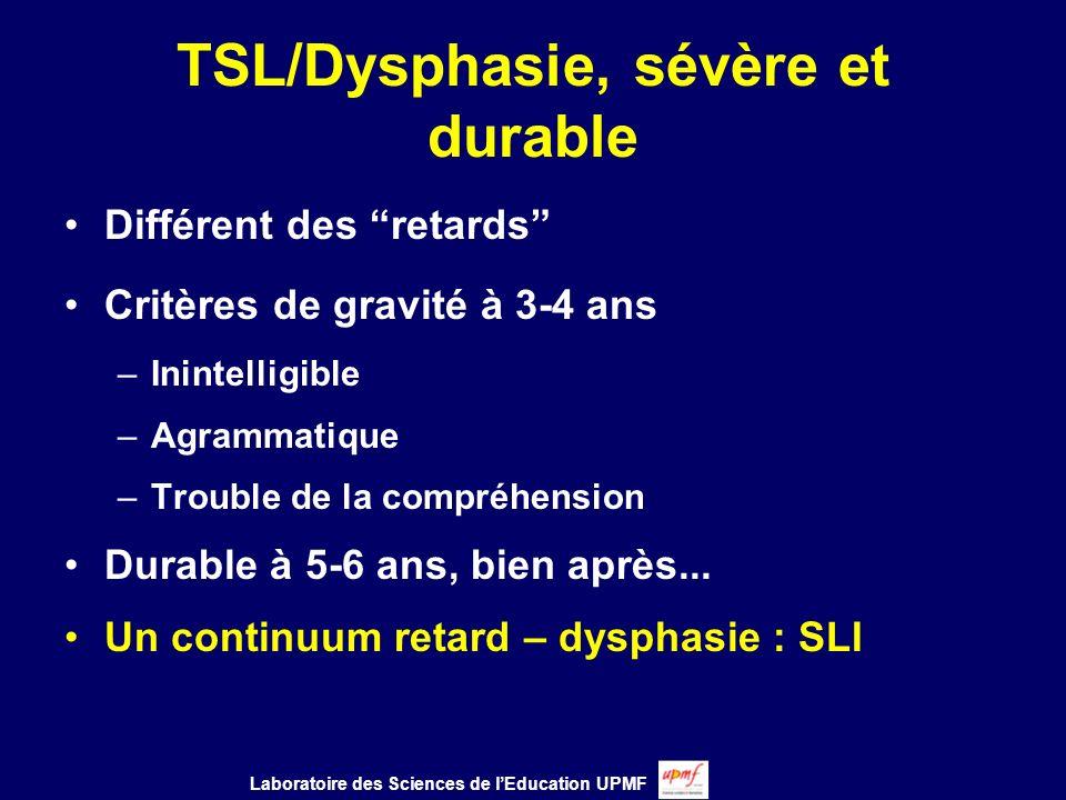 TSL/Dysphasie, sévère et durable
