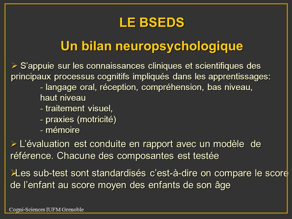Un bilan neuropsychologique