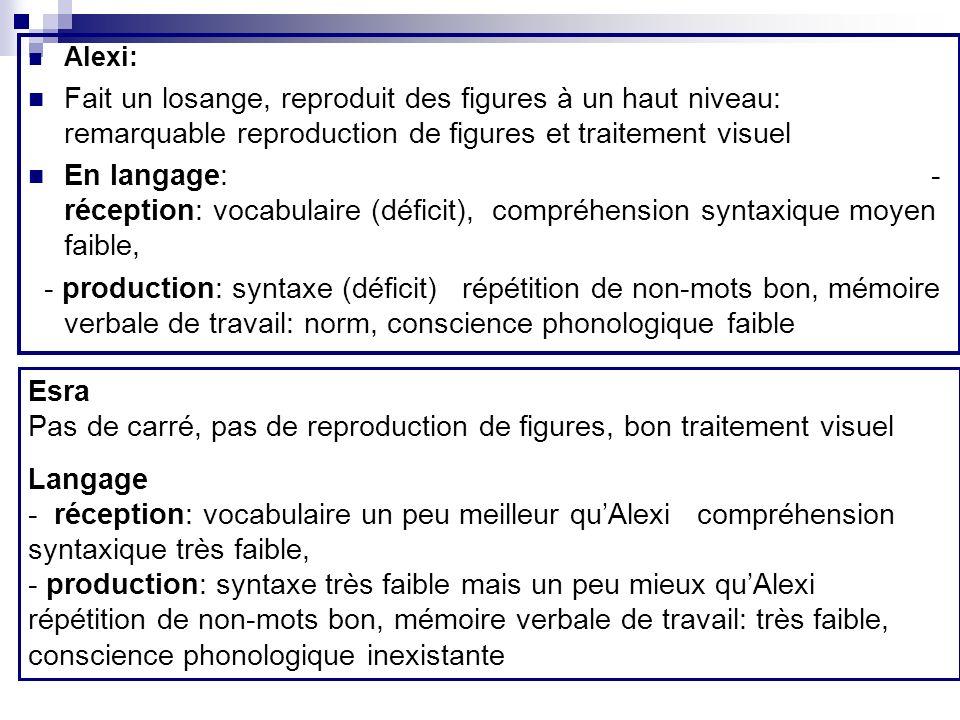 Alexi: Fait un losange, reproduit des figures à un haut niveau: remarquable reproduction de figures et traitement visuel.