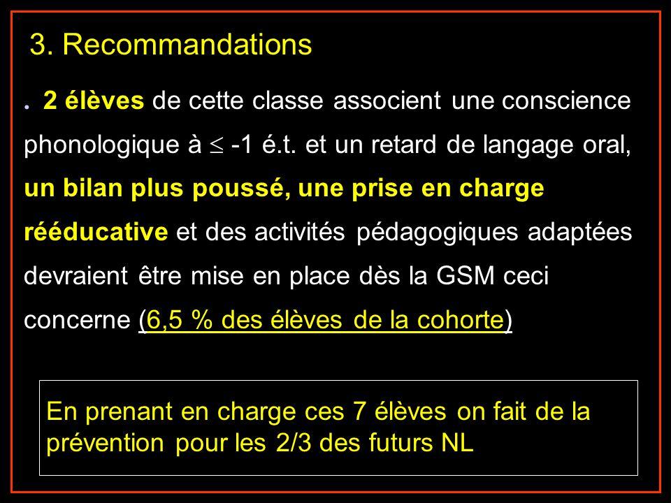 3. Recommandations