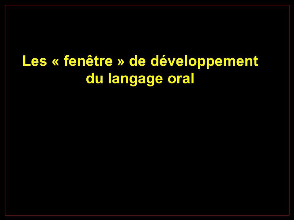 Les « fenêtre » de développement du langage oral
