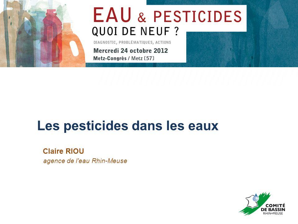 Les pesticides dans les eaux