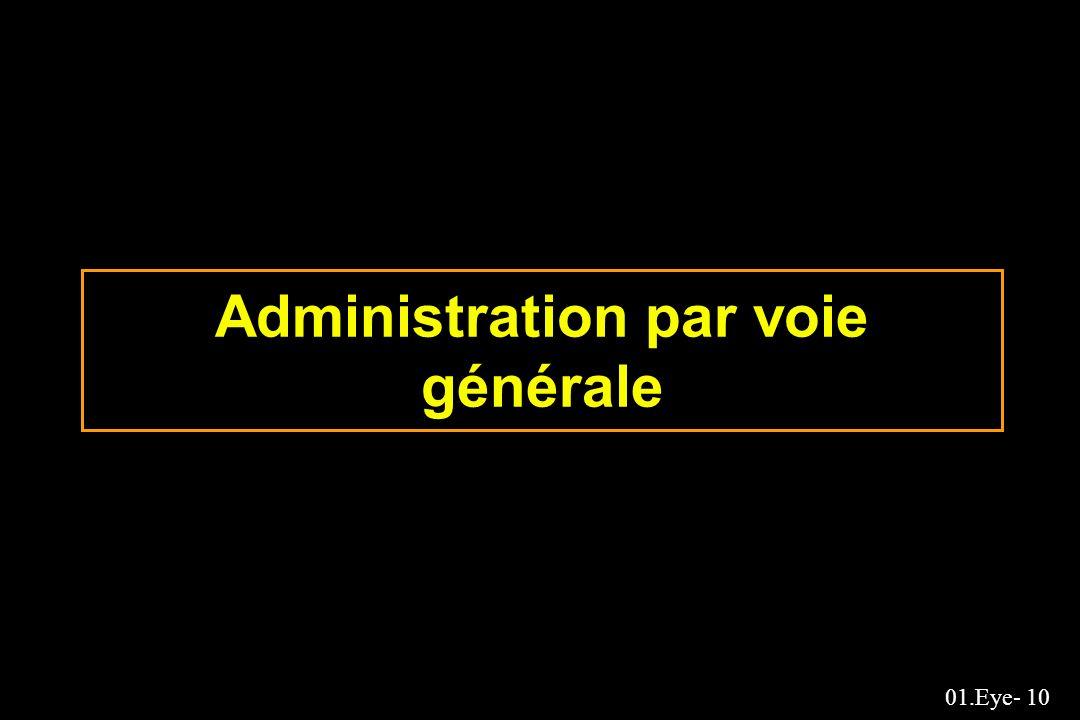 Administration par voie générale