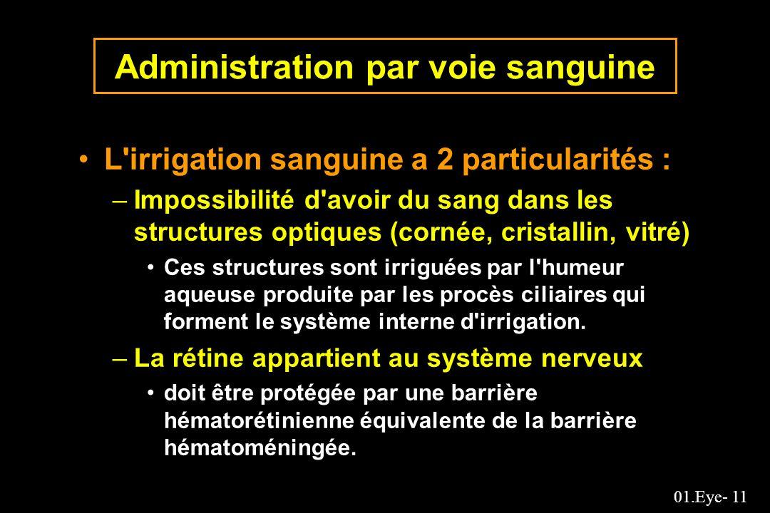 Administration par voie sanguine