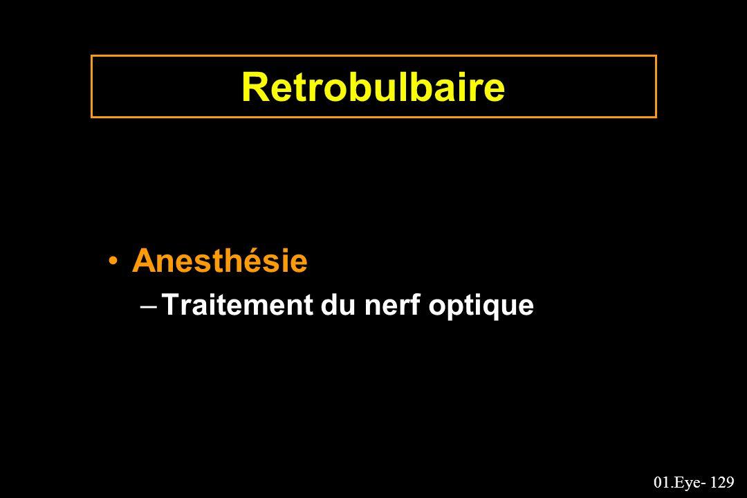Retrobulbaire Anesthésie Traitement du nerf optique