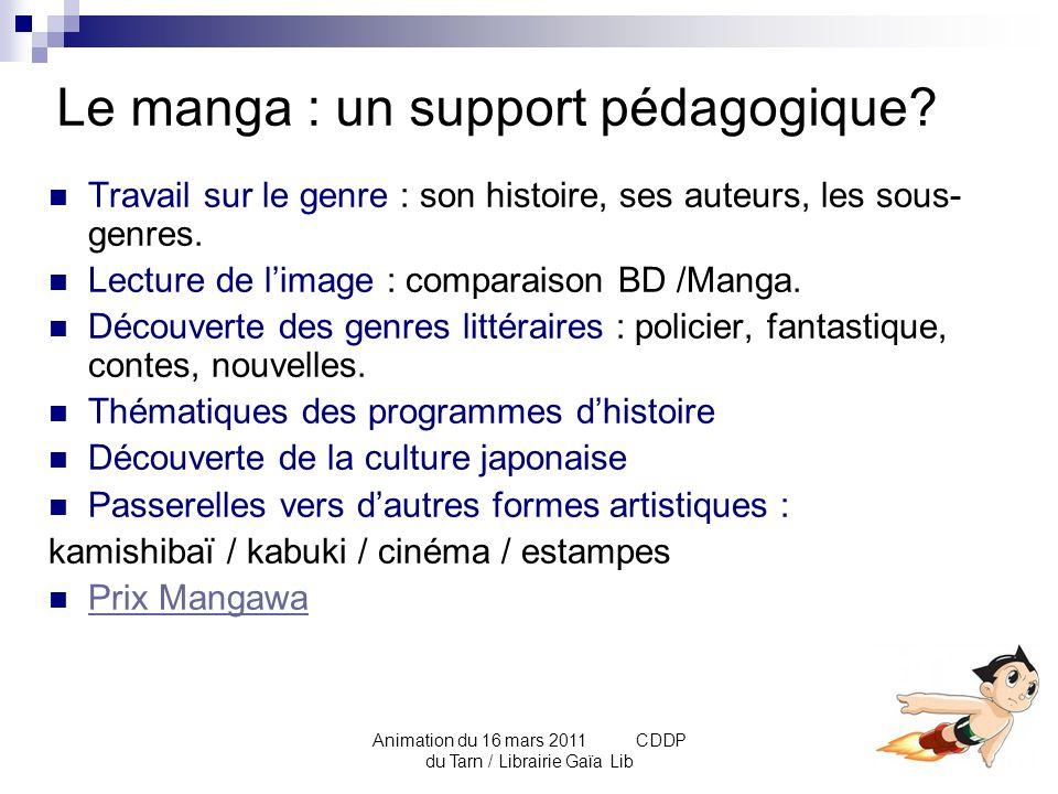 Le manga : un support pédagogique