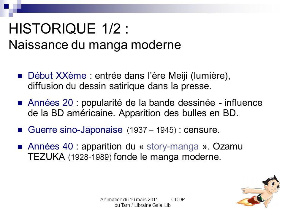 HISTORIQUE 1/2 : Naissance du manga moderne
