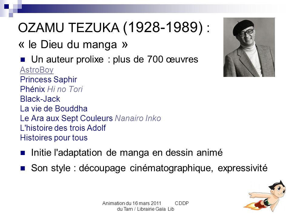 OZAMU TEZUKA (1928-1989) : « le Dieu du manga »