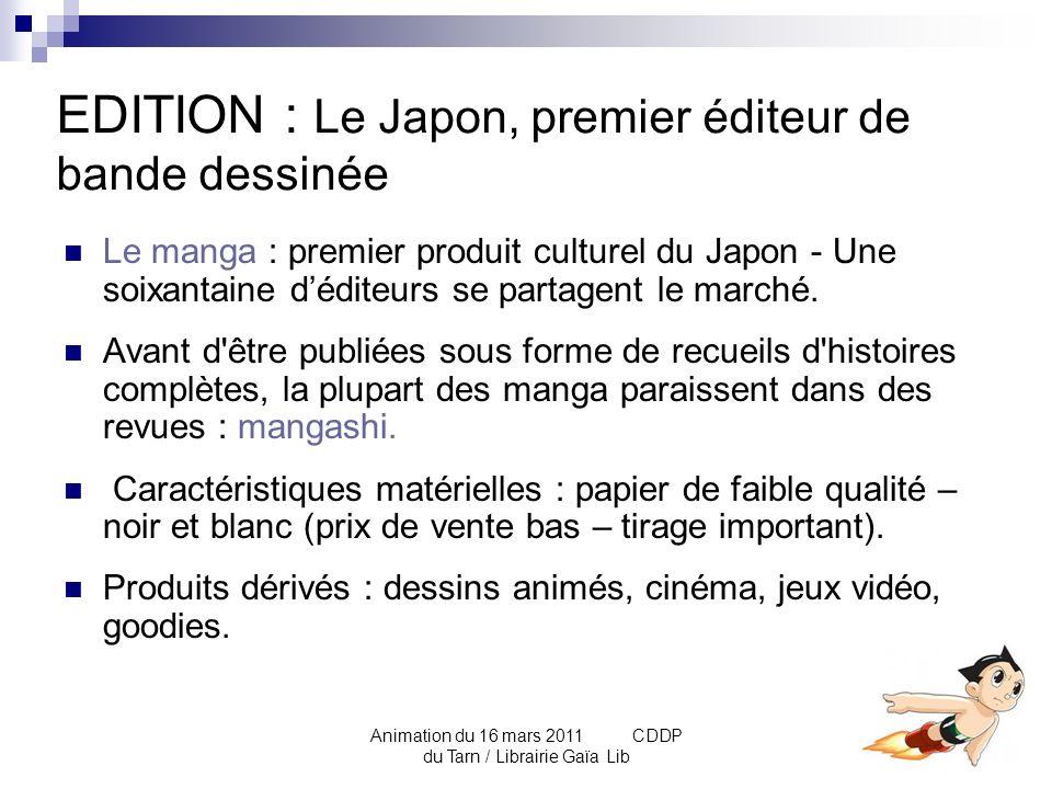 EDITION : Le Japon, premier éditeur de bande dessinée