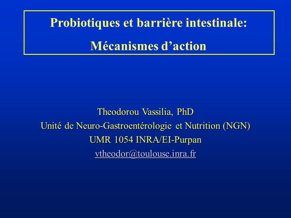 Probiotiques et barrière intestinale: