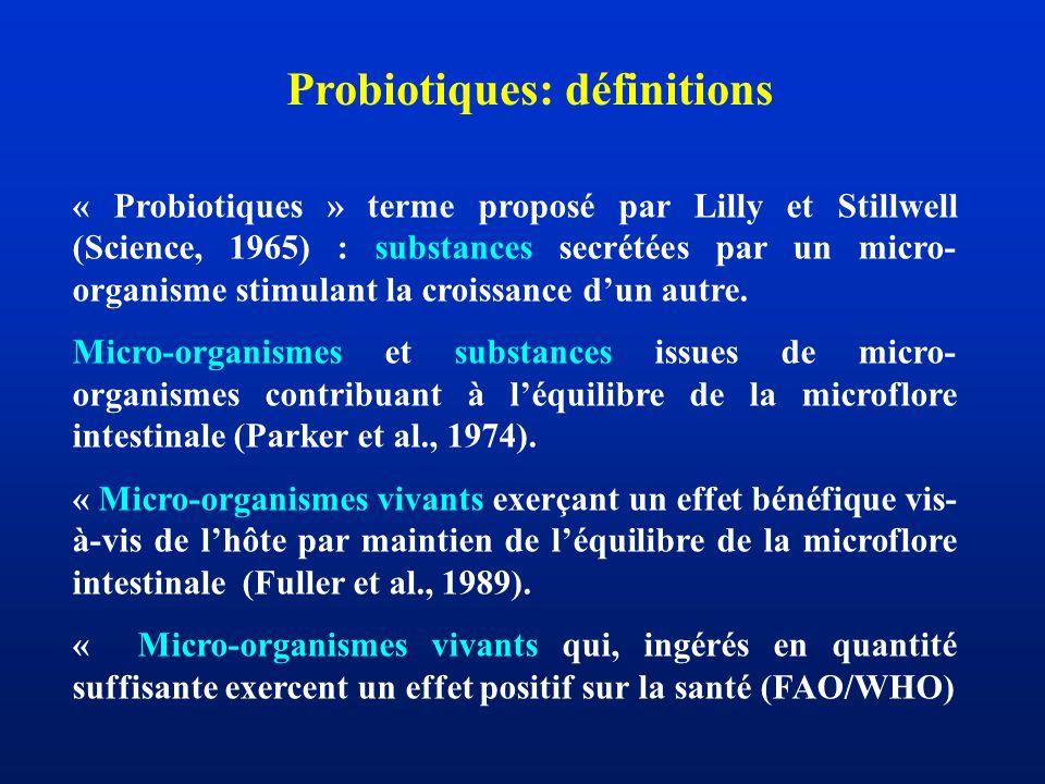 Probiotiques: définitions