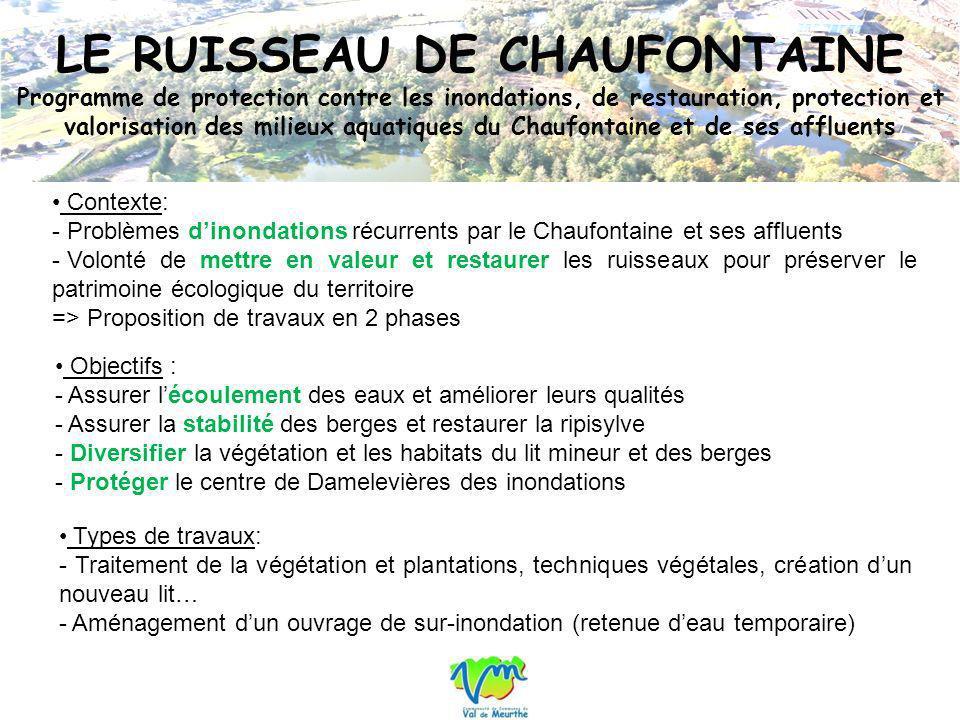 LE RUISSEAU DE CHAUFONTAINE