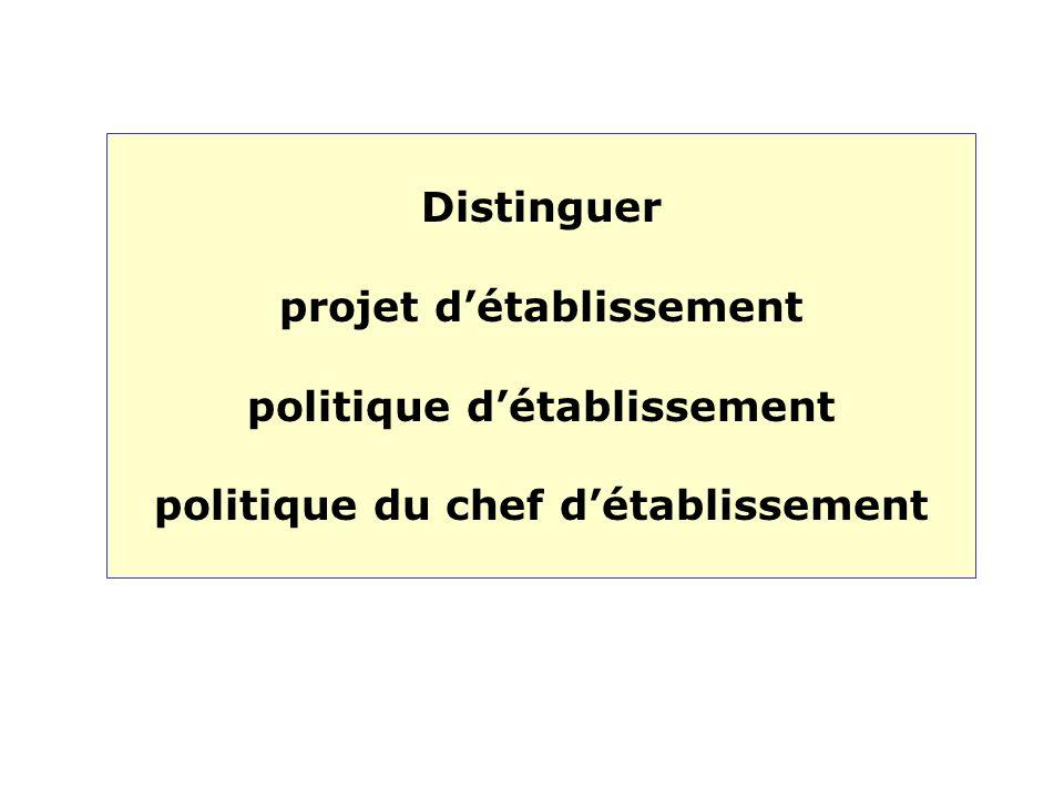 projet d'établissement politique d'établissement