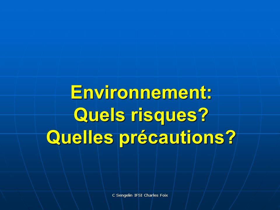 Environnement: Quels risques Quelles précautions