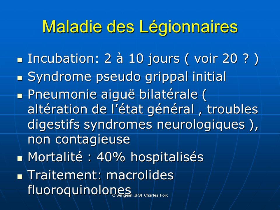 Maladie des Légionnaires