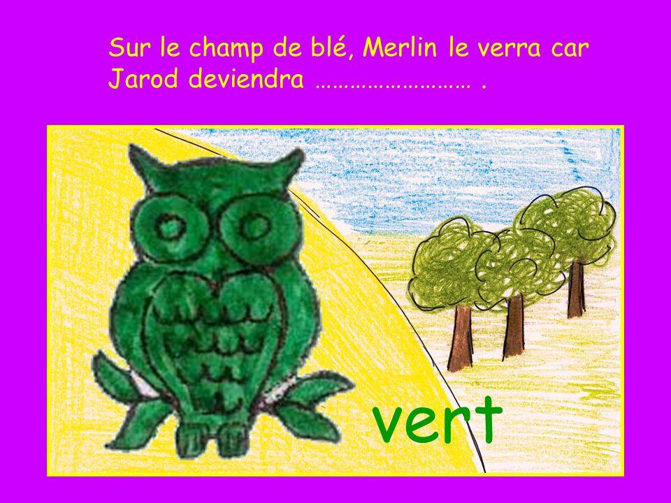 Sur le champ de blé, Merlin le verra car Jarod deviendra ……………………… .